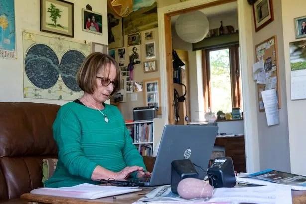 Brigid Eakins at her eco-home