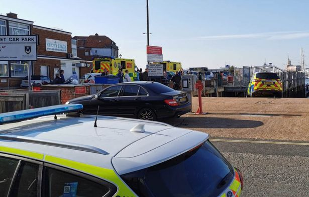 The woman was rushed to Queen Alexandra Hospital but could not be saved