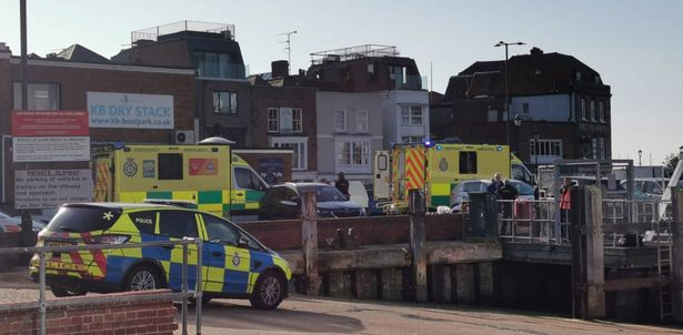 Police officers attended the scene although the woman's death is not being treated as suspicious