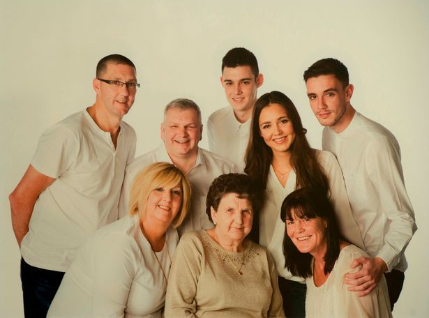 Collect of Robert Dorrian, with his wife on the far right and their 3 children, along with his brother-in-law, sister Elaine Johnston & his mum Ena Dorrian