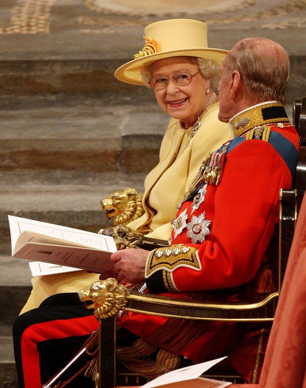 The Queen and Prince Philip at the wedding of Kate and William at Westminster Abbey