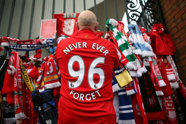 A total of 96 Liverpool supporters lost their lives during a crush at an FA Cup semi final against Nottingham Forest at the Hillsborough football ground in Sheffield