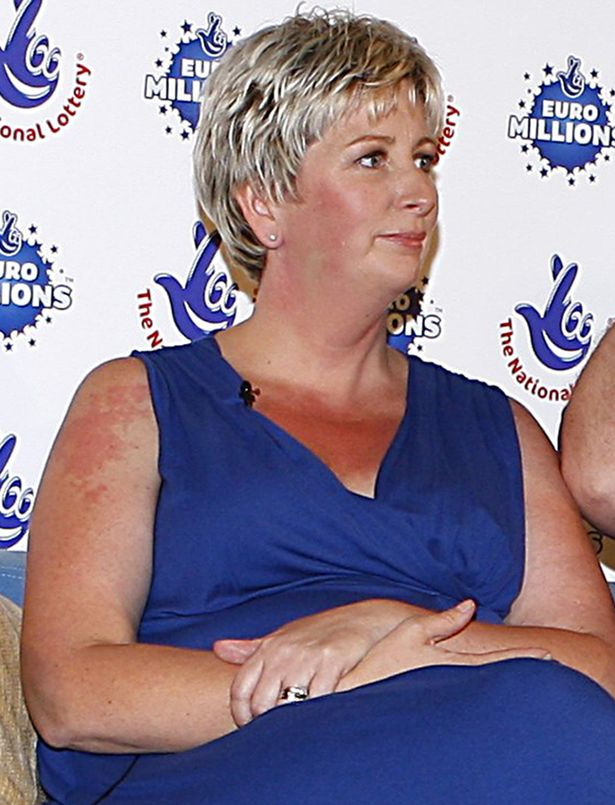 Gillian Bayford wins the EuroMillions jackpot in 2012