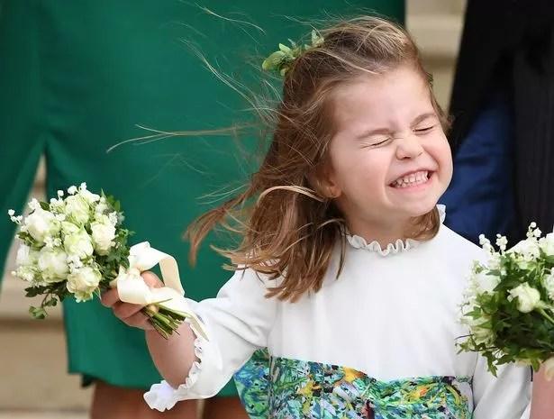Charlotte was a bridesmaid at Princess Eugenie's wedding