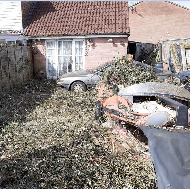 The property after the garden was cleared