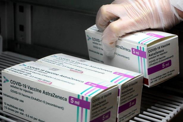 AstraZeneca vaccine boxes