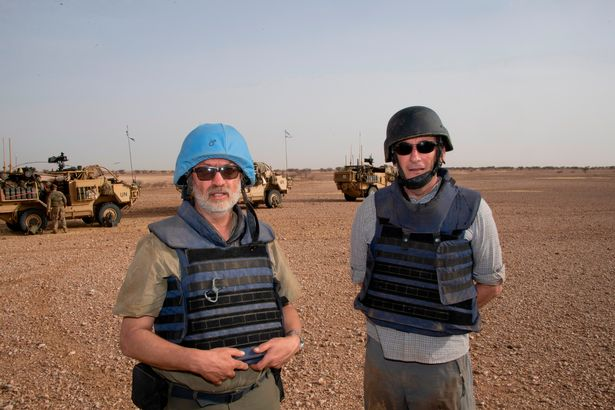 Mirror men Andy Stenning, left, and Chris Hughes, embedded with the Long Range Reconnaissance Group