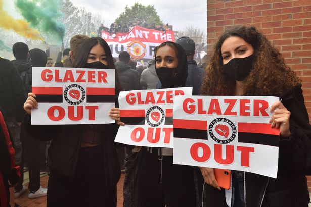 Fans protested about the owners of the club