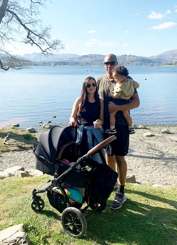 Chiara Musett with her partner James Spence and their children Siena and Luca