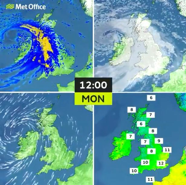 Weather for Monday 3 May 2021