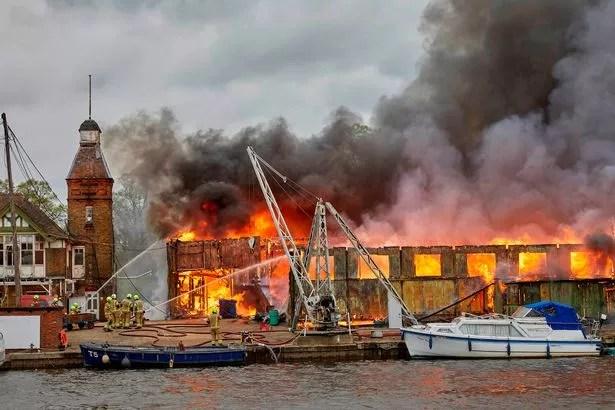 Fire at Platt's Eyot