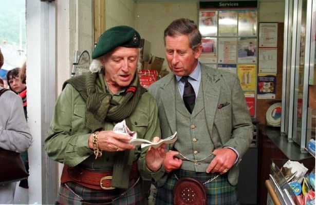 Jimmy Savile and Prince Charles