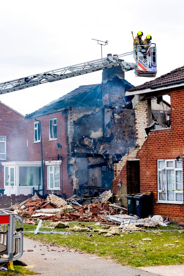 The explosion completely destroyed Mrs Hanford's home