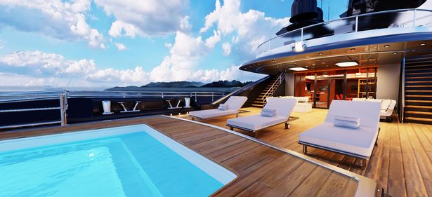 There aren't any pictures of the new superyacht - but could it end up looking like this?