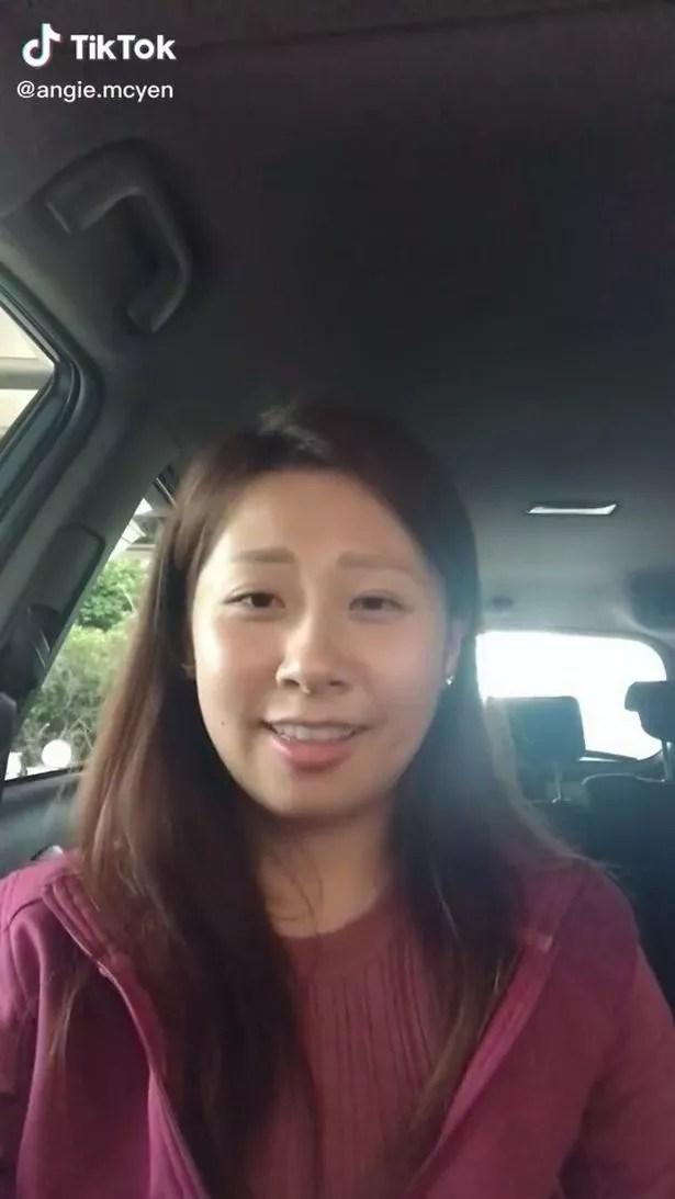 Angie in TikTok video