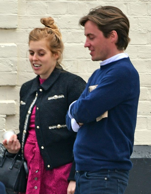 Princess Beatrice beamed as she showed the first clues of her baby bump during a walk with hubby Edoardo