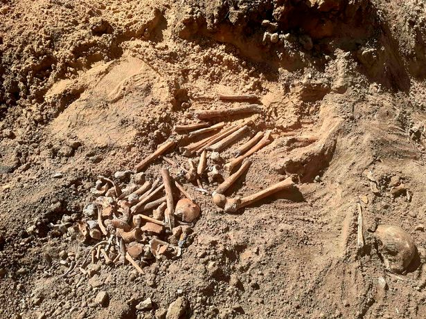 All most all of the remains were from young people, according to the volunteers