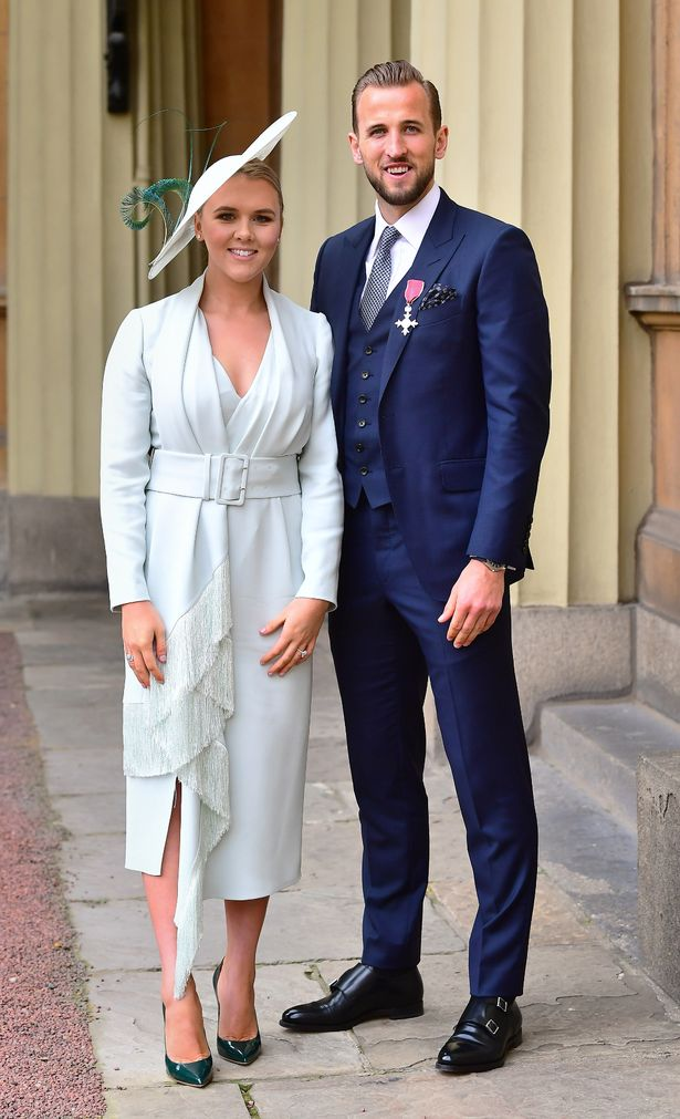 Harry Kane with Kate after being made an MBE in 2019