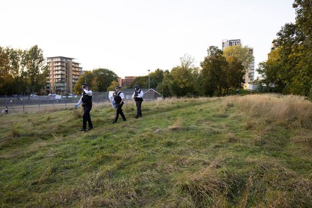 Police in Cator Park where Sabina's body was found