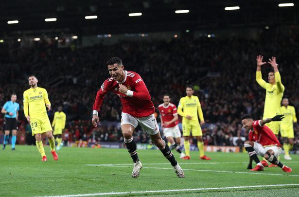 Ronaldo scored in the 95th minute to secure United's first Champions League win of the season