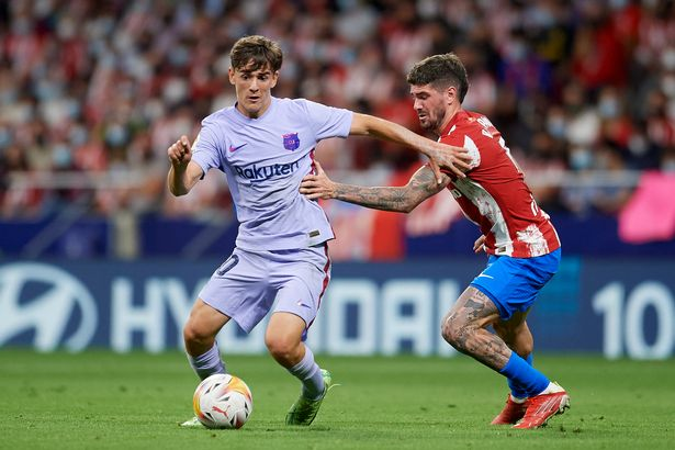 Barcelona's Gavi has a release clause of around £42.4million which could see Liverpool and Man Utd swoop for the youngster