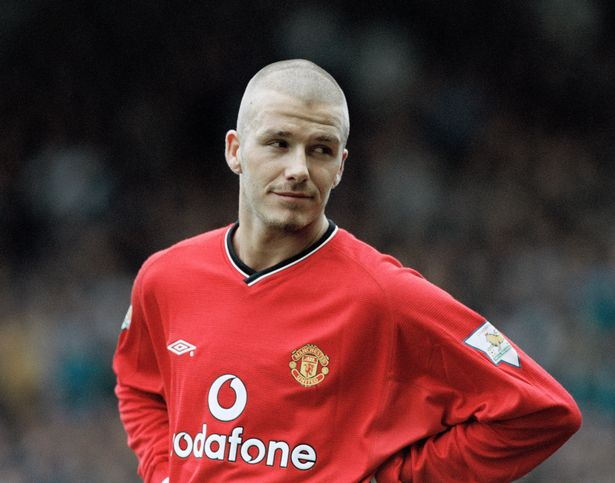 David Beckham playing for Manchester United