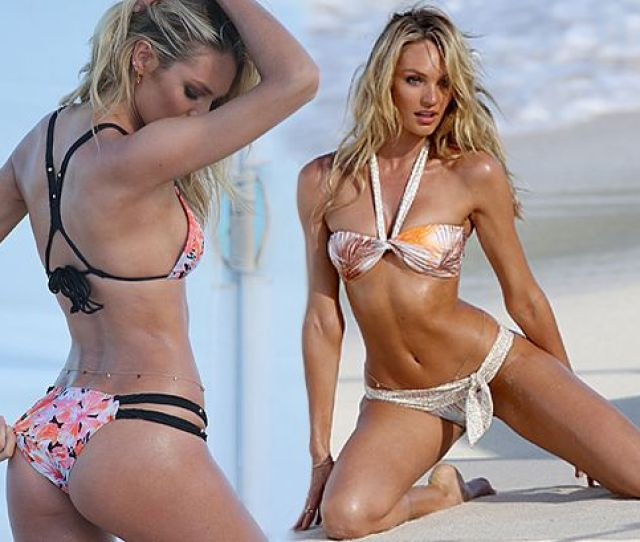 Candice Swanepoel Flaunts Her Super Toned Body In Tiny Bikini