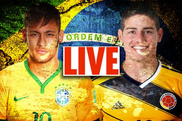 Brazil vs Colombia LIVE: World Cup 2014 action from the quarter-final match  - Mirror Online