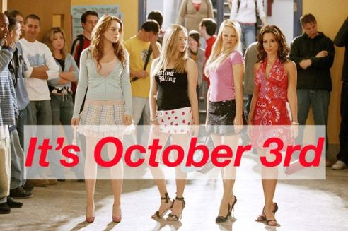 Image result for october 3 mean girls pink