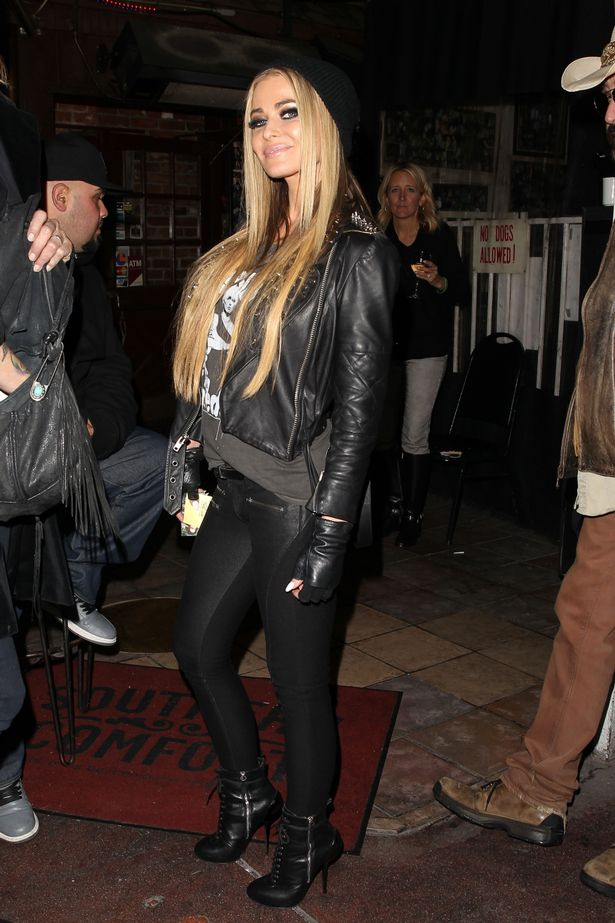 Carmen Electra Is A Glamorous Rock Chick As She Steps Out