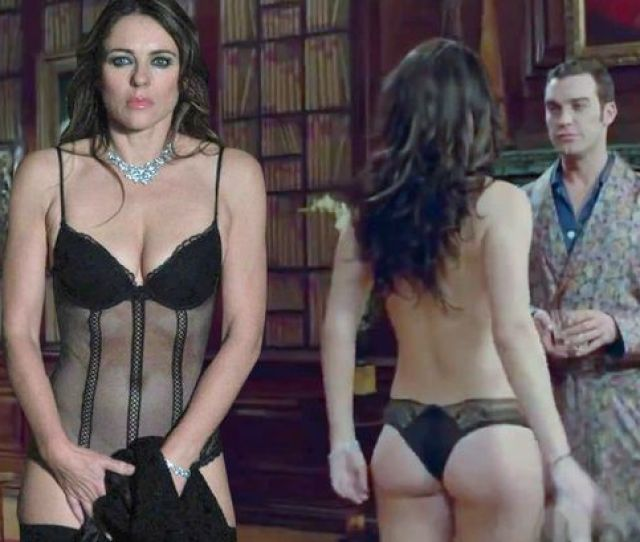 Elizabeth Hurley Strips Down To Her Underwear As Her Raunchy Drama The Royals