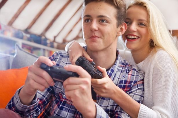 Image result for couple playing video games