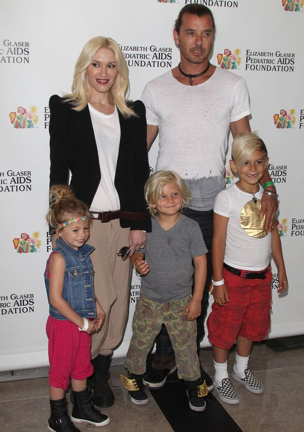 Gwen Stefani and Gavin Rossdale and family