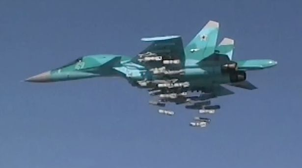 Russia kills at 150 ISIS fighters in deadly mass carpet bombing over     Russia carpet bombs ISIS killing 150 fighters