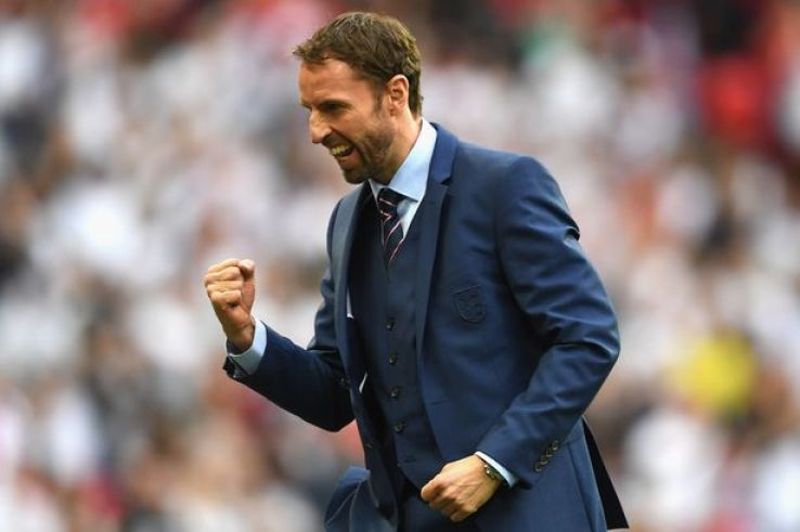 Image result for gareth southgate celebrating