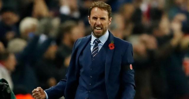 Image result for gareth southgate celebrating england manager