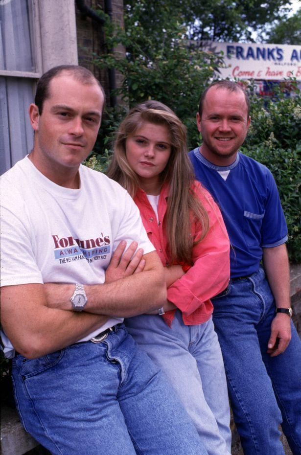 Grant (Ross Kemp), Sam (Danniella Westbrook) and Phil Mitchell (Steve McFadden) in EastEnders