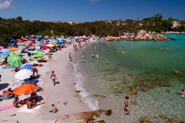 It will be some time before the beaches of Sardinia get so busy again.
