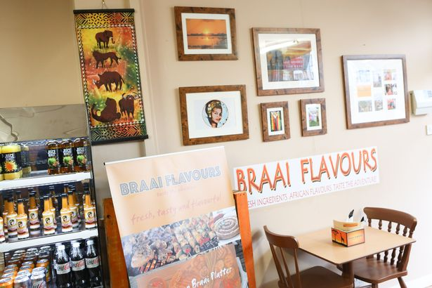 Braai Flavours - the portrait is of Ken's mother 'wonder woman' Florence