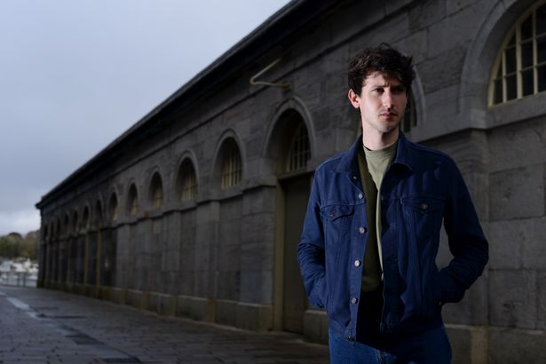 Actor Lewis Peek at the Royal William Yard, in Plymouth