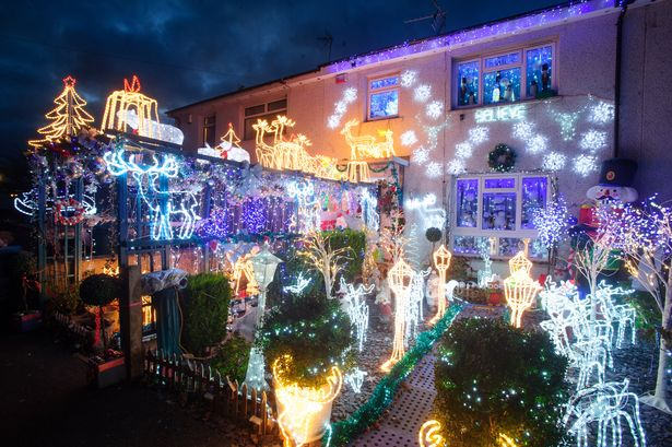 The Heartwarming Reason This House Is Covered In Christmas Decorations Wales Online