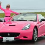 The Woman Driving A Pink Ferrari Around The Streets Of Cardiff Wales Online