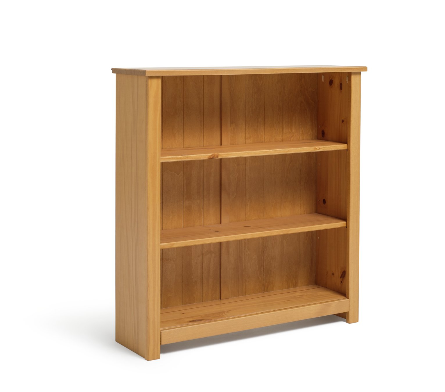 Argos Home Porto 2 Shelf Solid Wood Bookcase Pine