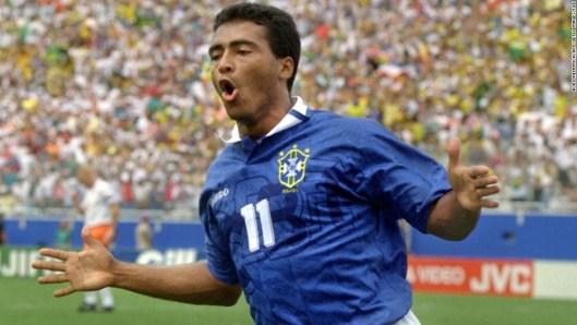 Neymar is a big admirer of former Brazil striker Romario.