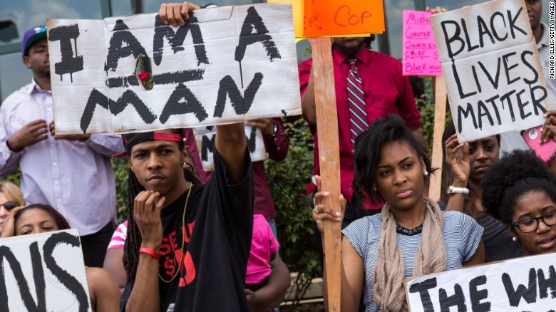 Protesters in North Charleston decry Walter Scott's death shortly after the shooting.