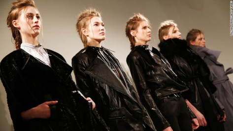 "London-based <a href=""http://www.haizhenwang.co.uk/"" target=""_blank"">Haizhen Wang's</a> structured tailoring and androgynous silhouettes earned him the Fashion Fringe award (a business development award for cutting edge designers in the UK) in 2010. Though he too studied at Central Saint Martins, he says learned most of his technical skills in China."