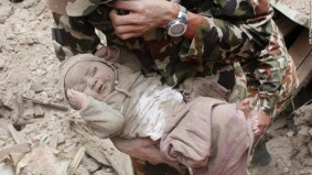 Image result for Baby rescued from rubble, fire Brigade says it's a 'miracle'