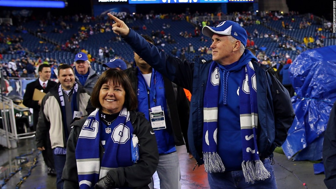 Image result for mike pence colts game