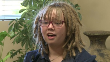 why teen s hair is an issue for her school cnn video