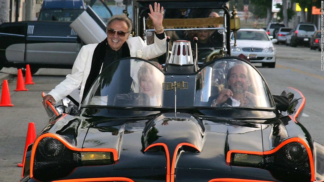 BEVERLY HILLS, CA - JUNE 17:  Hollywood car creator George Barris arrives in the TV Batmobile for the Friars of Beverly Hills celebrity fundraiser dinner gala presenting their Life Achievement Award to Barris at the Friars of Beverly Hills on June 17, 2006 in Beverly Hills, California.  (Photo by David Livingston/Getty Images)